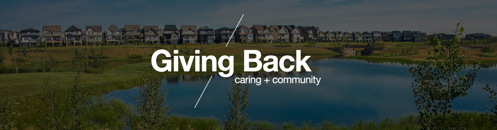 Giving Back - Caring + Community banner