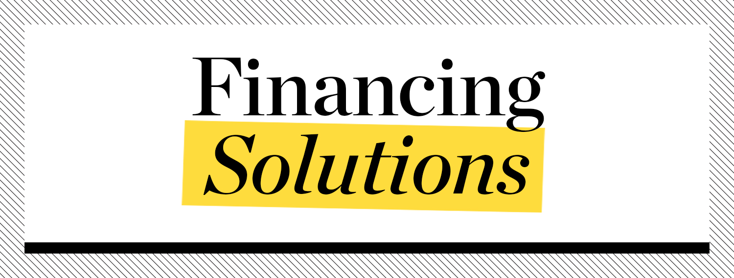 Financing Solutions banner