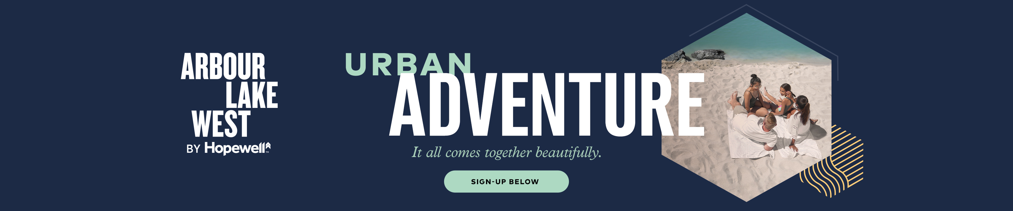 Arbour Lake West Urban Adventure banner with Sign Up button
