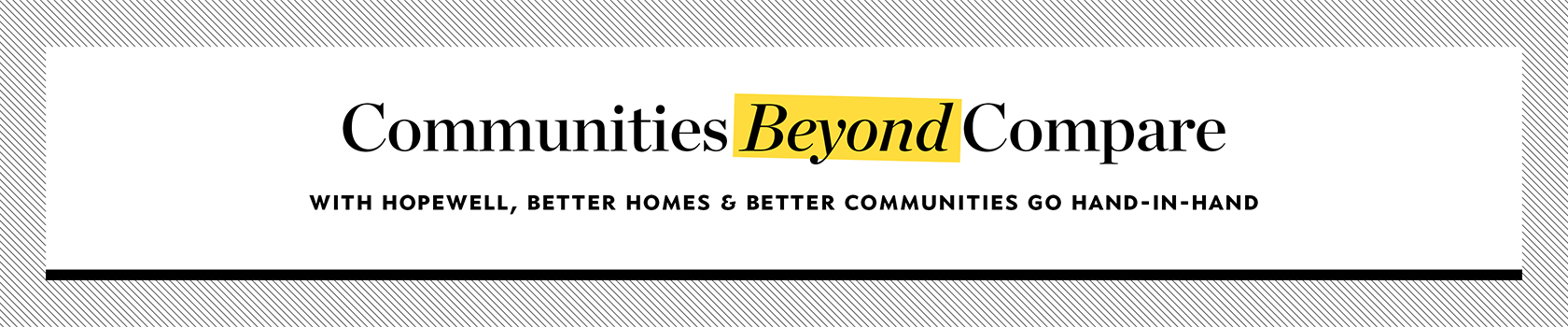 Communities Beyond Compare  banner