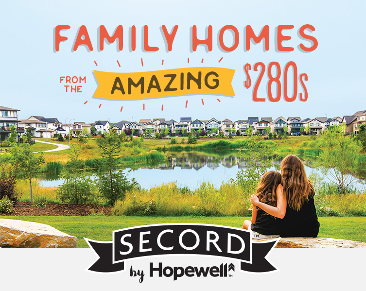 Family Homes From the Amazing $280s | Secord by Hopewell banner image
