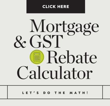 Mortgage & GST Rebate Calculator button