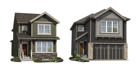 Single-Family homes rendering