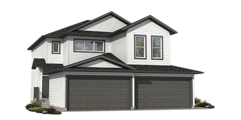 Duplex homes rendering